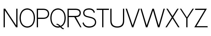 OPTIVenus-Light Font UPPERCASE