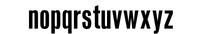 OPTIVenusBold-Condensed Font LOWERCASE