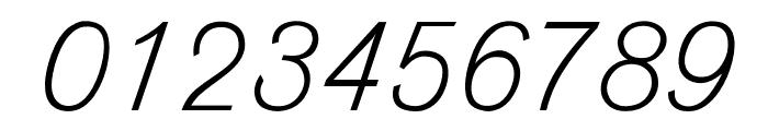 OPTIVenusLight-Italic Font OTHER CHARS