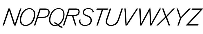OPTIVenusLight-Italic Font UPPERCASE