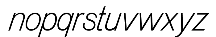 OPTIVenusLight-Italic Font LOWERCASE