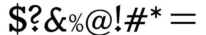 OPTIVeronese-Regular Font OTHER CHARS