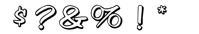 OPTIVessel-Shadow Font OTHER CHARS