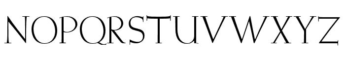 OPTIWeissInitials-One Font LOWERCASE
