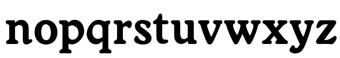 OPTIWorcester-RoundSLBold Font LOWERCASE