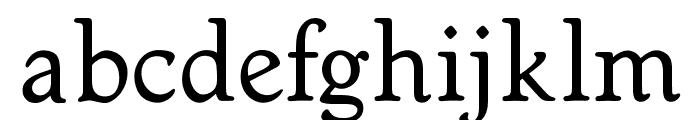 OPTIWorcester-RoundSL Font LOWERCASE