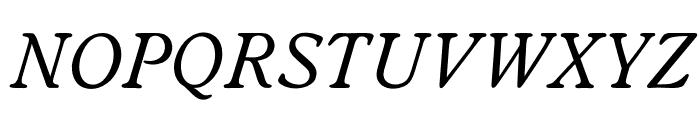 OPTIWorcesterRoundSLItalic Font UPPERCASE