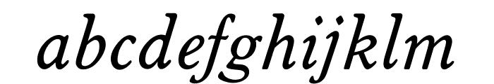 OPTIWorcesterRoundSLItalic Font LOWERCASE