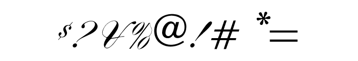 OPTIYale-Script Font OTHER CHARS