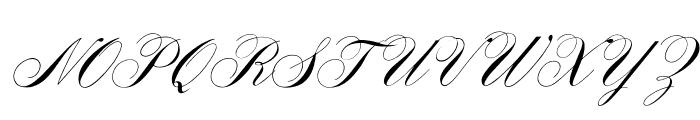 OPTIYale-ScriptSuppl Font UPPERCASE
