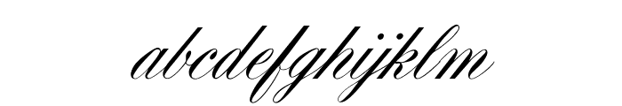 OPTIYale-ScriptSuppl Font LOWERCASE