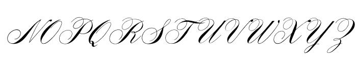 OPTIYaleScript Font UPPERCASE