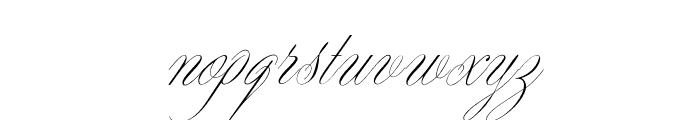 OPTIYen-Script Font LOWERCASE