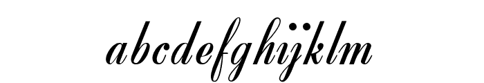OPTIZipper Font LOWERCASE