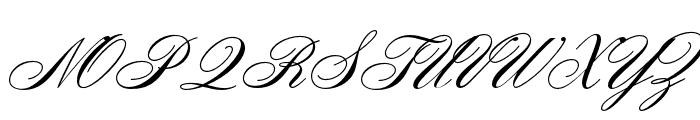 OPTIZoomScript Font UPPERCASE