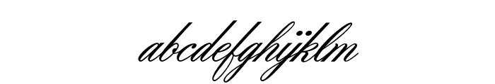 OPTIZoomScript Font LOWERCASE