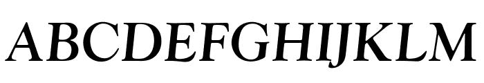 OPTIwtcGoudy-MediumItalic Font UPPERCASE