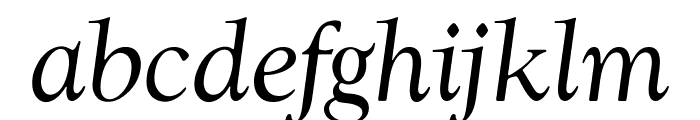 OPTIwtcGoudy-RegularItalic Font LOWERCASE