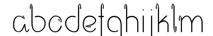 Opalo Font LOWERCASE