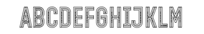 Open Minded Inside Font UPPERCASE