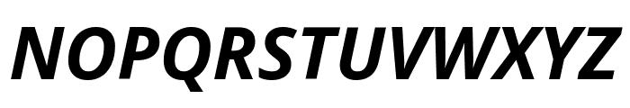 Open Sans Bold Italic Font UPPERCASE
