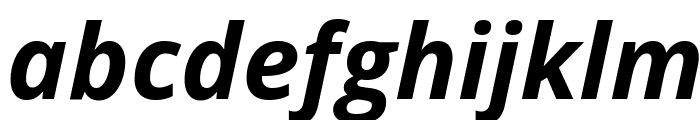 Open Sans Bold Italic Font LOWERCASE
