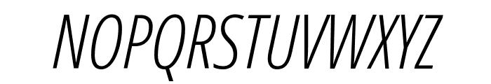 Open Sans Condensed Light Italic Font UPPERCASE