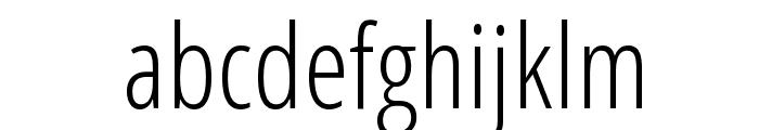 Open Sans Condensed Light Font LOWERCASE
