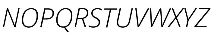 Open Sans Light Italic Font UPPERCASE