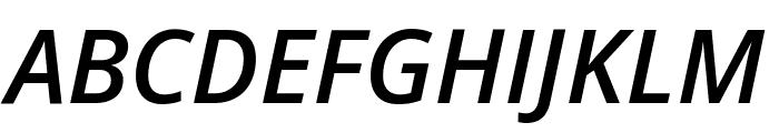 Open Sans Semibold Italic Font UPPERCASE