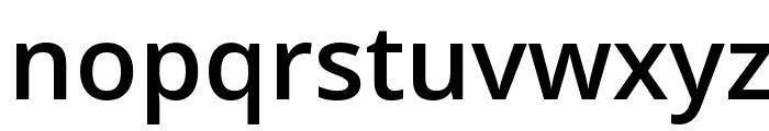 Open Sans Semibold Font LOWERCASE
