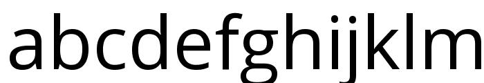 Open Sans Font LOWERCASE