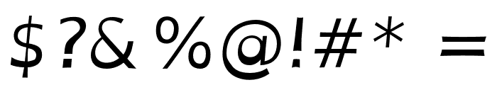 OpenDyslexic Italic Font OTHER CHARS