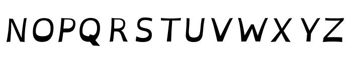 OpenDyslexic Italic Font UPPERCASE