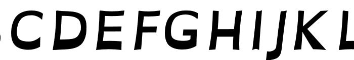 OpenDyslexicAlta Bold Italic Font UPPERCASE