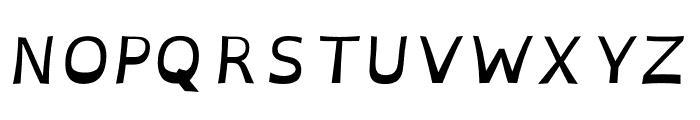 OpenDyslexicAlta Italic Font UPPERCASE