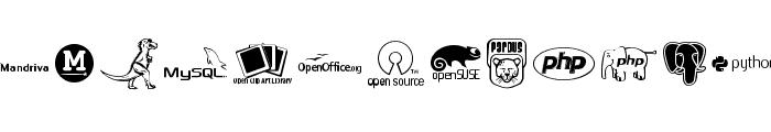 OpenLogos Font LOWERCASE