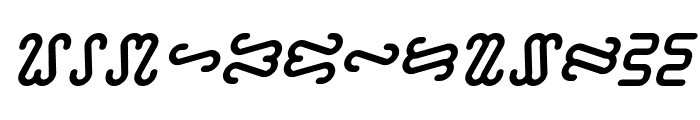 Ophidian Bold Italic Font UPPERCASE