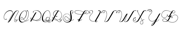 Oph?lia Script Light Font UPPERCASE