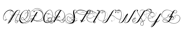 Oph?lia Script Font UPPERCASE