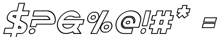 Opilio Outline Italic Font OTHER CHARS