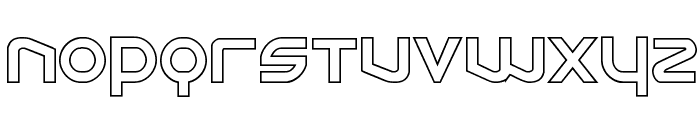 Opilio Outline Regular Font UPPERCASE