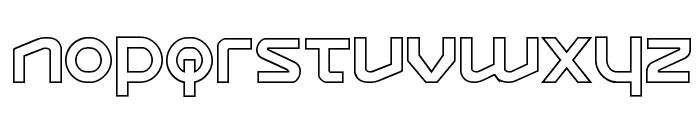 Opilio Outline Regular Font LOWERCASE