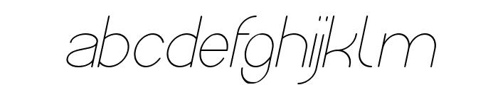 Optical Fiber Italic Font LOWERCASE