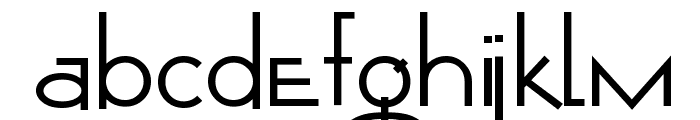 Opticon  One1 Font LOWERCASE