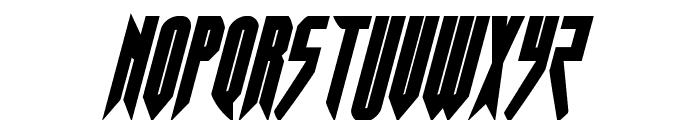 Opus Magnus Condensed Italic Font UPPERCASE