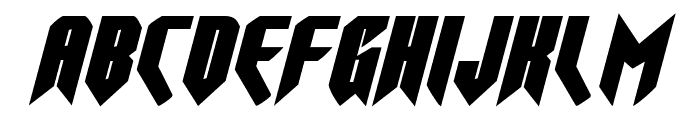Opus Magnus Expanded Italic Font LOWERCASE