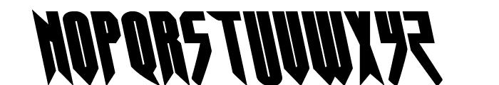 Opus Magnus Leftalic Font UPPERCASE