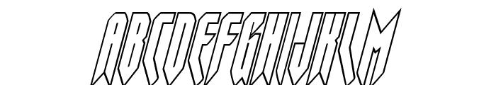Opus Magnus Outline Condensed Italic Font UPPERCASE