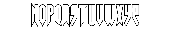 Opus Magnus Outline Condensed Font LOWERCASE